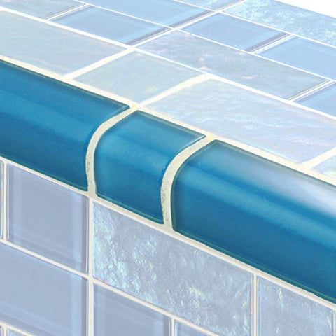 TRIM-GT8M4896B12 Trim Azure Mixed Artistry in Mosaics