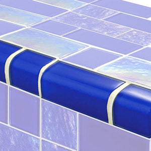 TRIM-GT8M4896B9 Trim Royal Blue Mixed Artistry in Mosaics