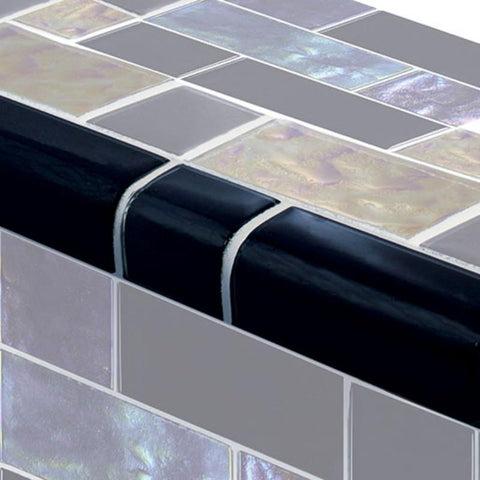 TRIM-GT8M4896K5 Trim Black Mixed Artistry in Mosaics