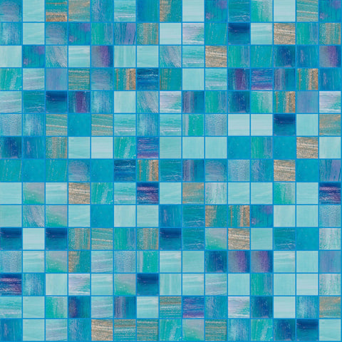 "Refreshing, 3/4"" x 3/4"" - Glass Tile"