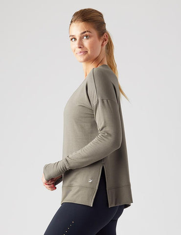 Lounge Long Sleeve: Dark Moss