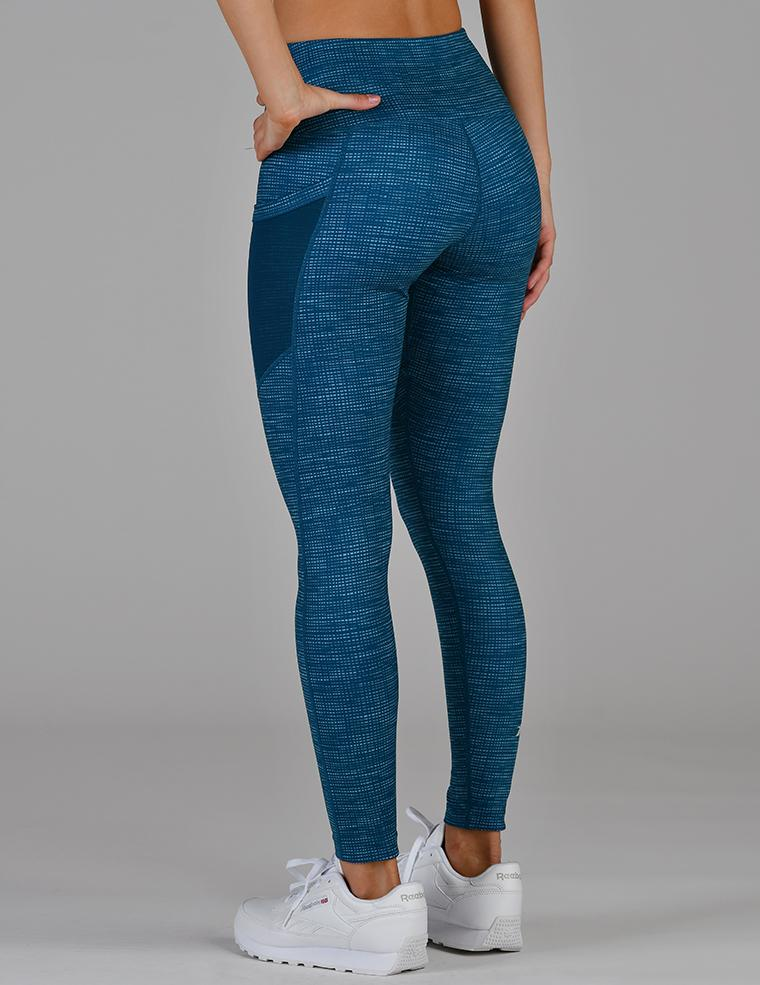 Social Legging: Moroccan Blue Illusionary Print
