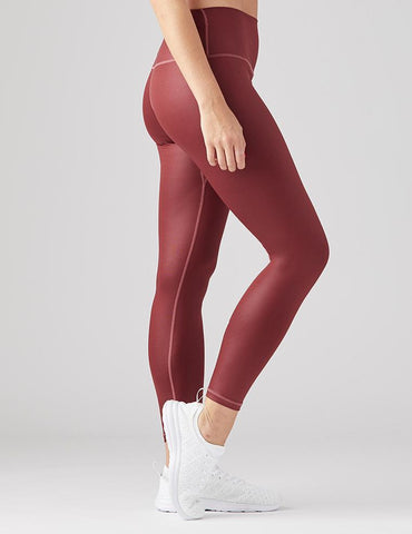 High Power Legging: Oxblood Gloss