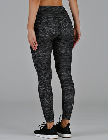 Social Legging: Black Illusionary Print