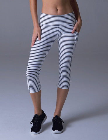 Angle Crop: White & Black Stripe