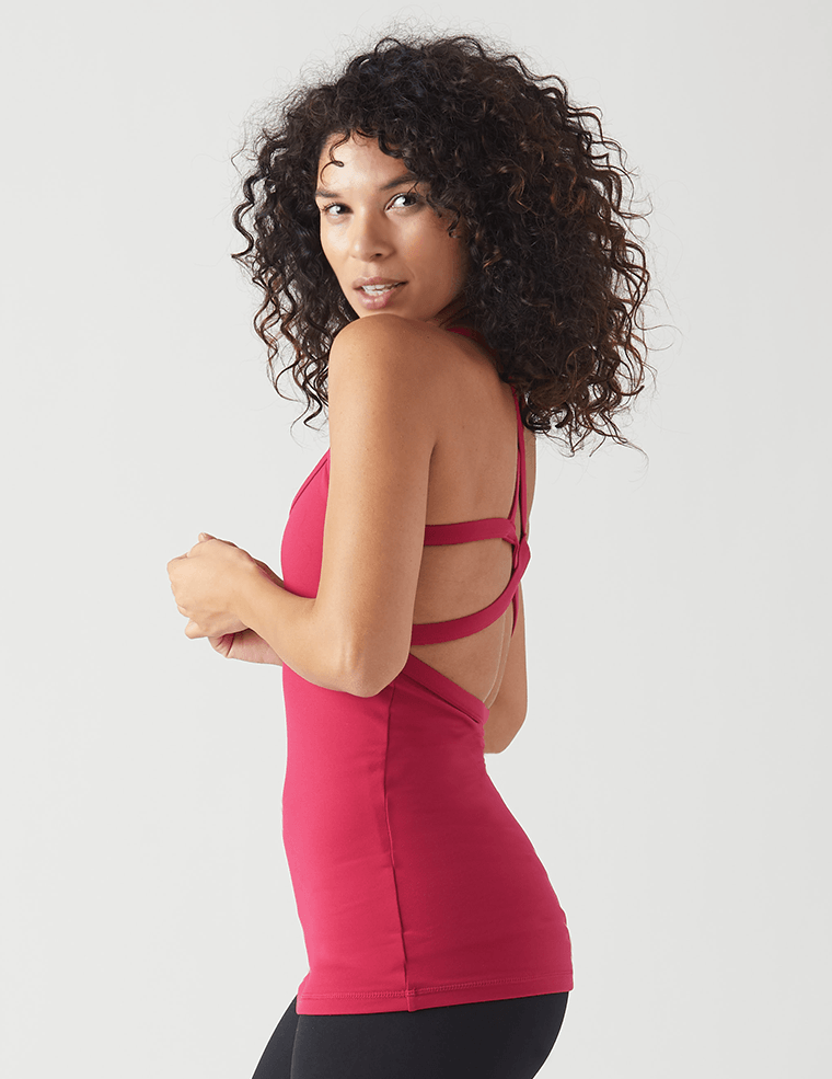 Bella Tank: Vivid Rose
