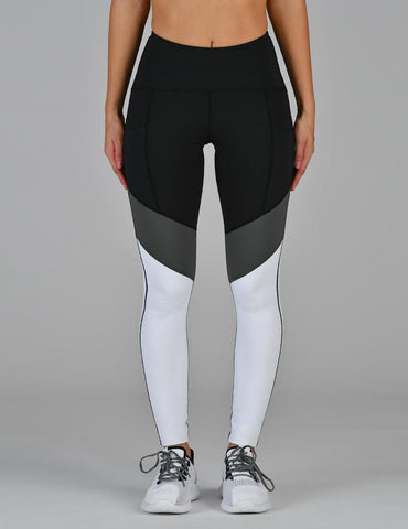 District Legging: Black Tri-tone