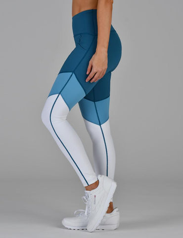 District Legging: Moroccan Blue Tri-tone