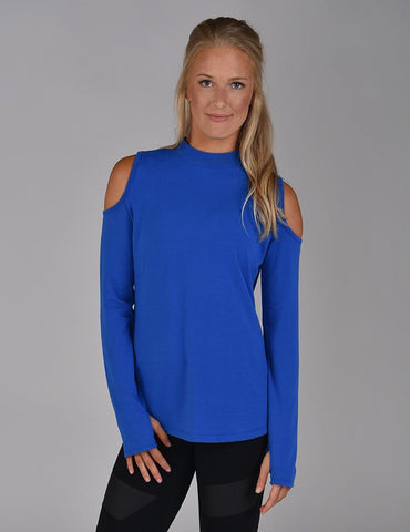 Cold Shoulder Long Sleeve: Cobalt