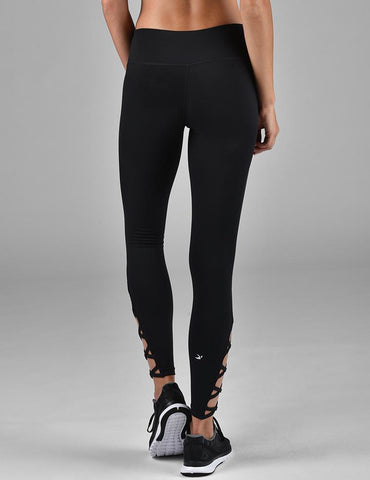 Ankle Corset Legging: Black
