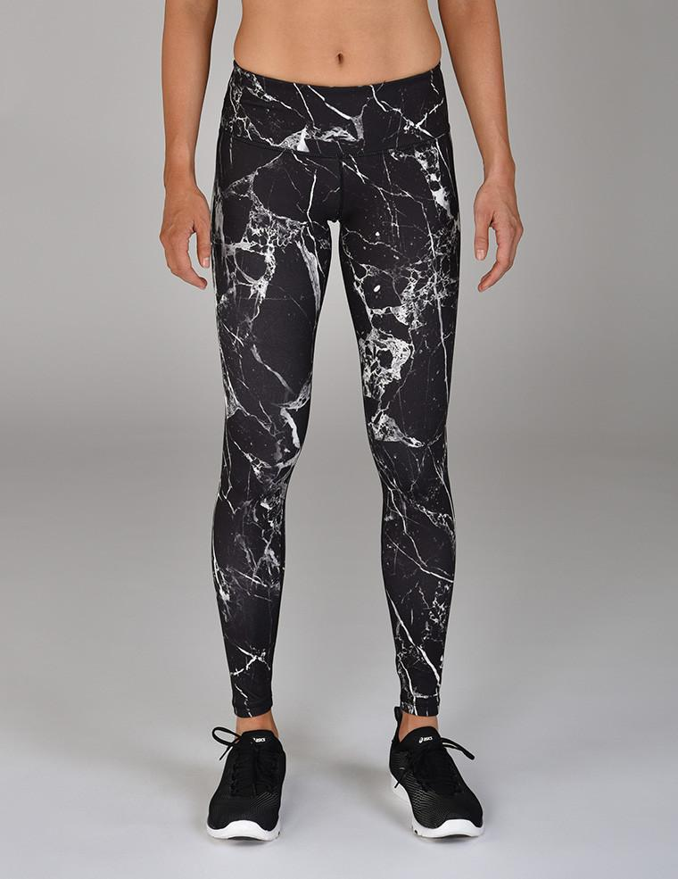 Elongate Legging Print: Cracked Onyx