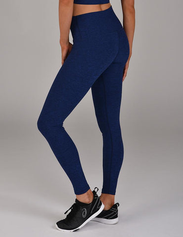High Power Legging: Cobalt Blue Melange