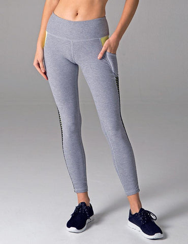 Avidity Legging: Frost Grey Melange