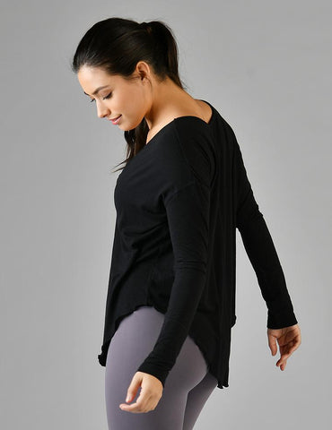 Lace Up Long Sleeve: Black