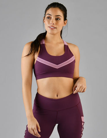 Virtue Bra: Grape Wine/ Orchid Haze
