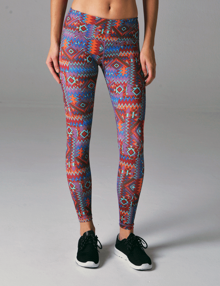 Elongate Legging Print: Tribal