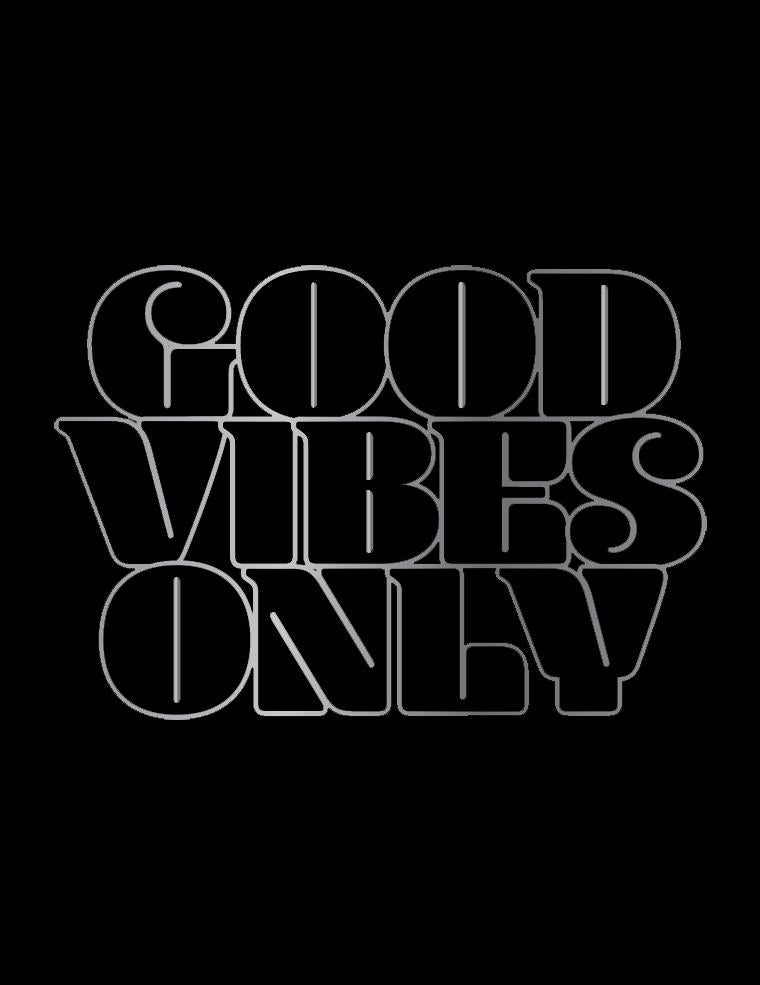 Mood Graphic Tank: Good Vibes Only