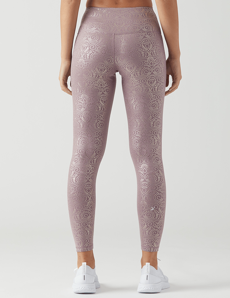 High Power Legging Print: Mauve Royal Tide Gloss