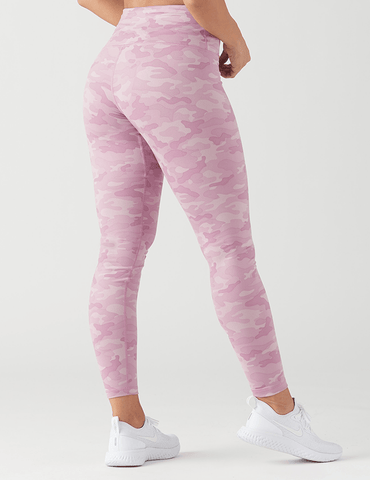 High Power Legging Print: Orchid Haze Camo