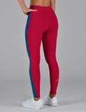 Look Back Legging: Vivid Rose