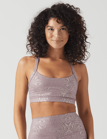 Lotus Bra: Mauve Royal Tide Print
