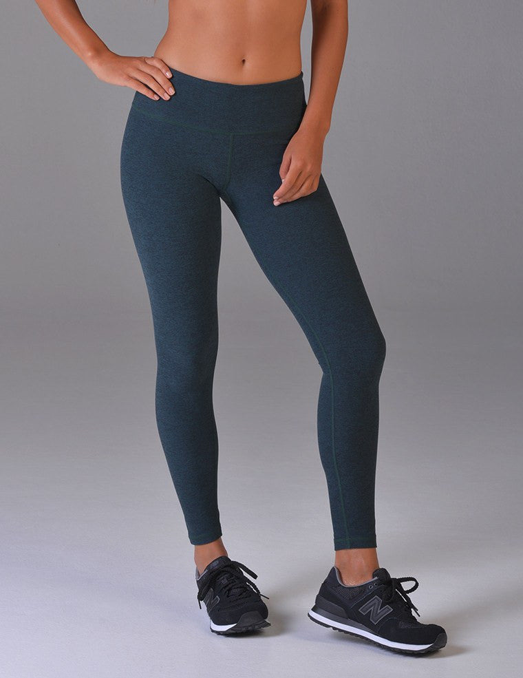 Elongate Legging: Kale Heather