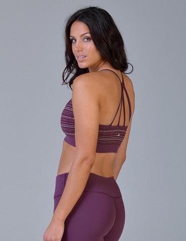 Ignite Bra: Bordeaux Chevron Jacquard