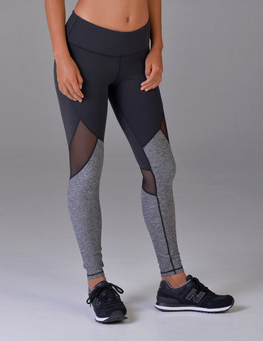 Zeal Legging: Black / Salt & Pepper Heather