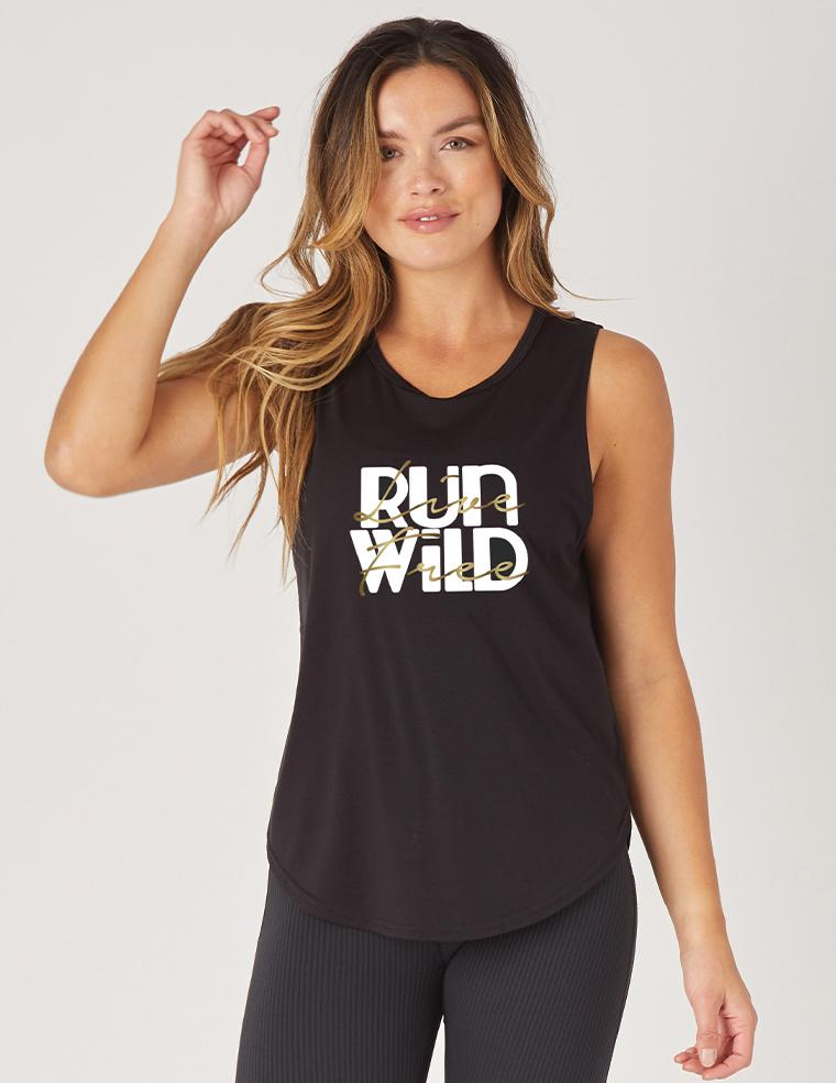 Mood Graphic Tank: Run Wild