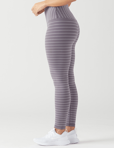 Sultry Legging: Shark and White Pinstripe