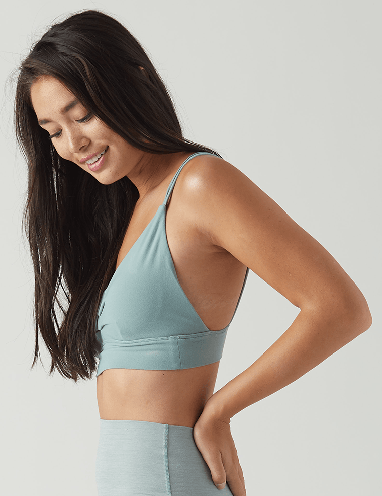 Sweetheart Sports Bralette: Eucalyptus