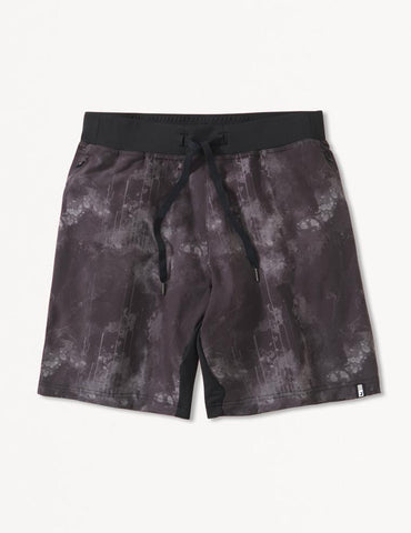 Acadia Short: Black Cloud Drip Print