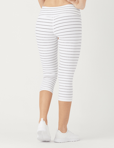 Angle Crop: White / Black Pinstripe