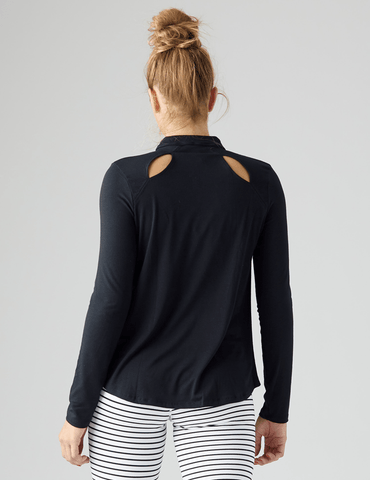 Tease Long Sleeve: Black