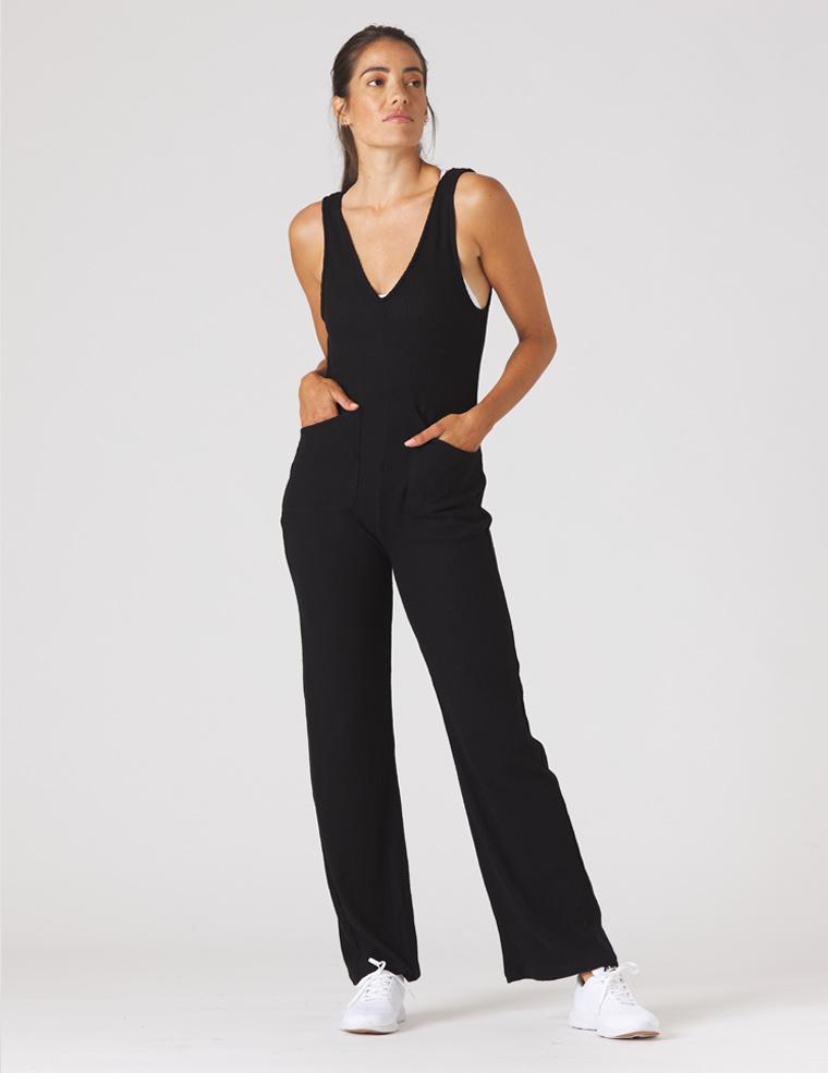 Comfort Jumpsuit: Black
