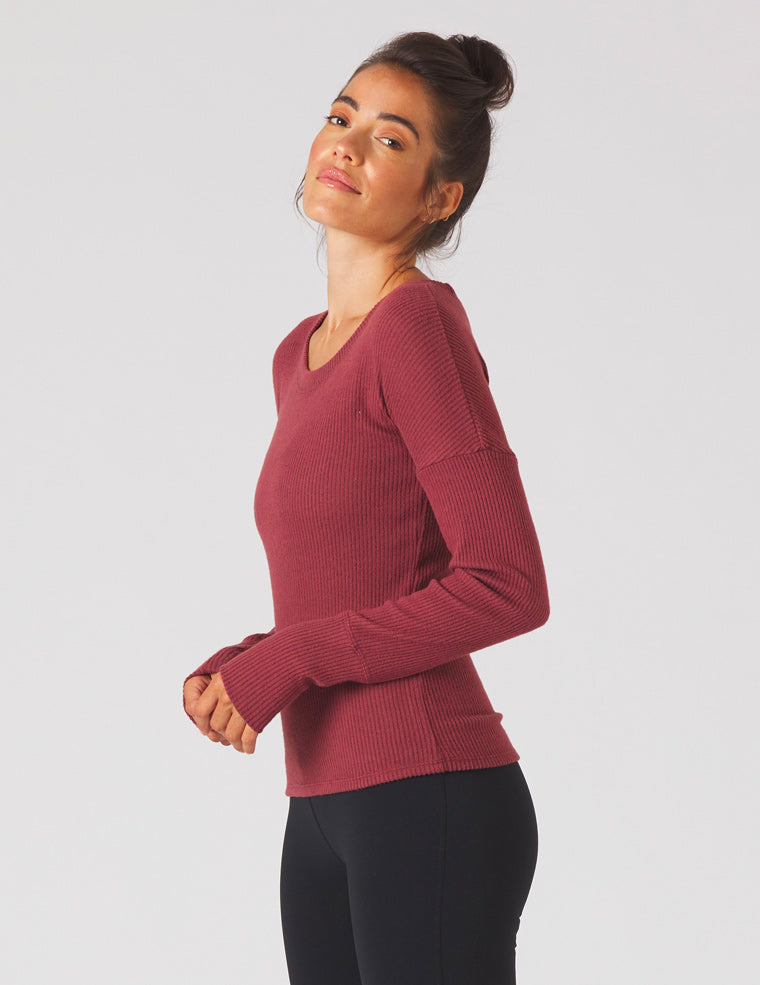 Comfort Long Sleeve: Merlot