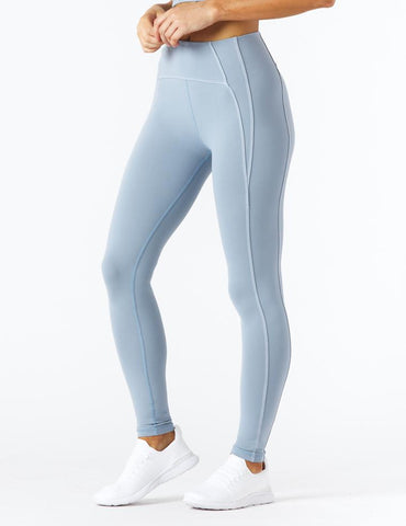 Contrast Legging: French Blue/White