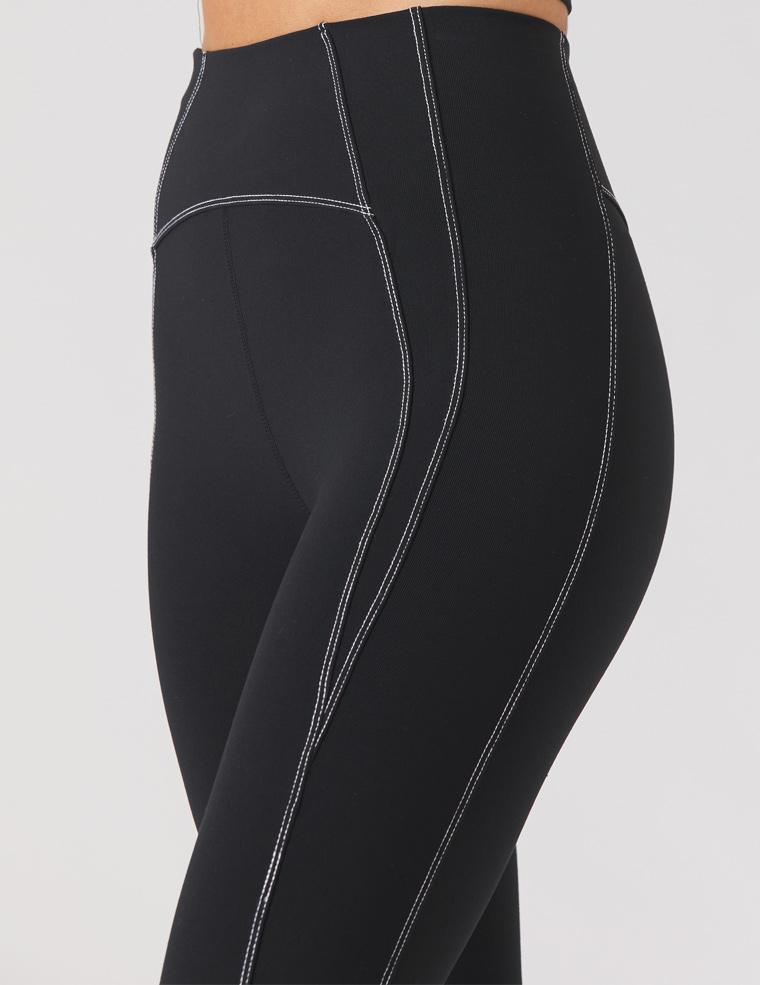 Contrast Legging: Black/White
