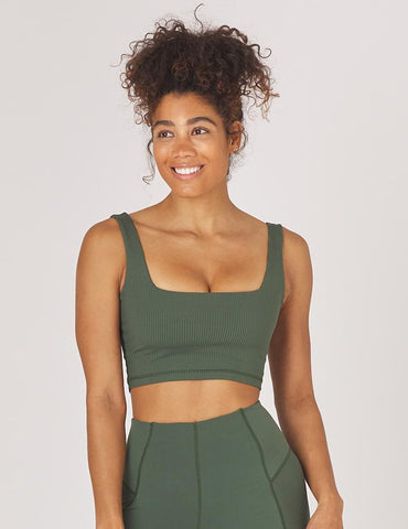 Cutting Edge Bra: Olive