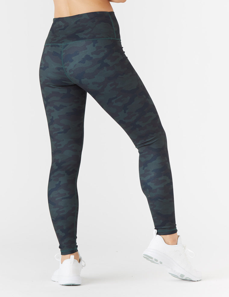 High Power Legging Print: Dark Camo - Online Only