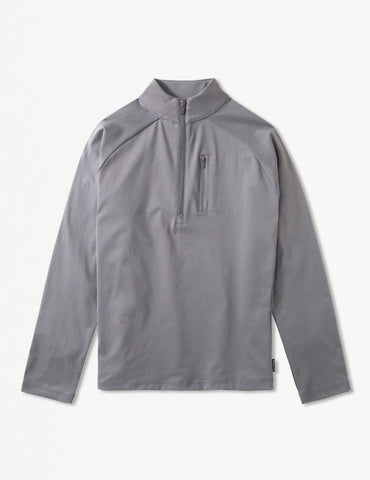 Avalon 1/4 Zip: Smoke Grey