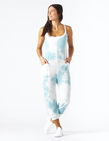Effortless Jumpsuit: French Blue Tie-Dye