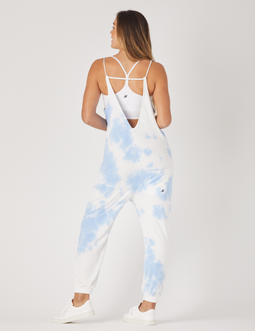 Effortless Jumpsuit: Blue Tie Dye