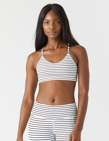 Energy Bra: White/Black Stripe