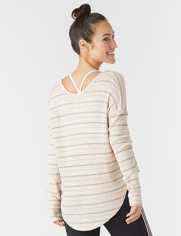 Freestyle Dolman: Rosewater Stripe