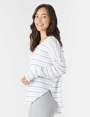 Freestyle Dolman: White Stripe