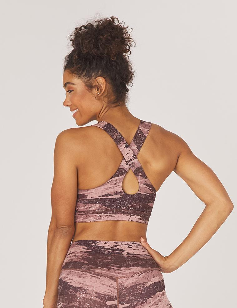 Full Force Bra: Cocoa Distressed Camo Print