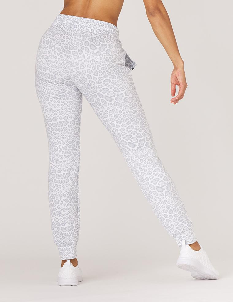 Halfway Jogger: Ice Leopard Print