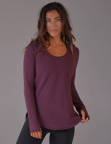 Helix Long Sleeve: Bordeaux