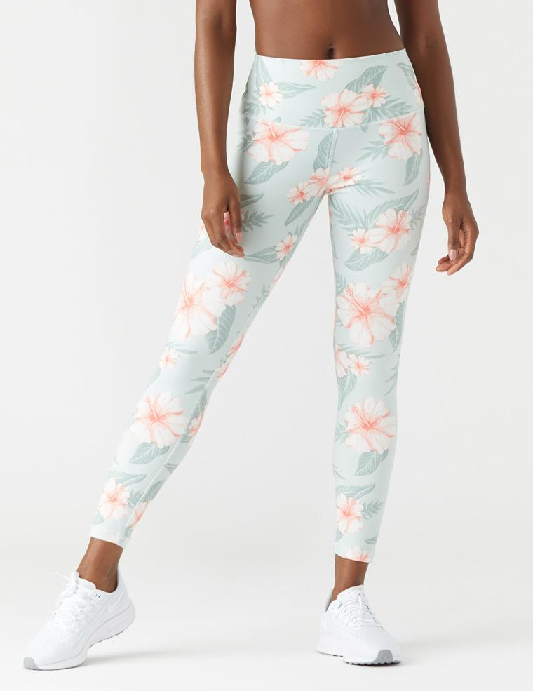 High Power Legging Print: Tropical Bloom